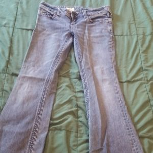 Free people flared, low rise jeans